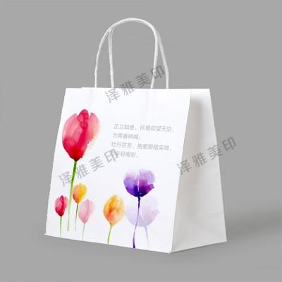 孝感白卡纸手提袋印刷广告手提袋印刷高档手提袋定制