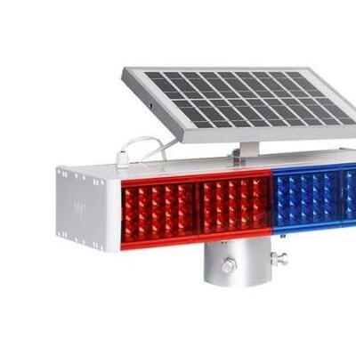 五大连池双面太阳能警示灯led交通警示灯交通设施